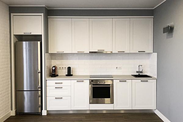 белая кухня мдф пленка класическая кухня недорого